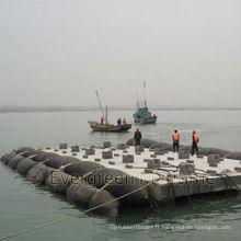 Airbags marins pour le lancement de navire, le levage, la mise à niveau / le levage des airbags marins gonflables
