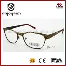 Última marca de dama de metal gafas ópticas venta al por mayor China