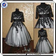 PP0149 fotos de vestido de casamento muçulmano árabe curto e preto