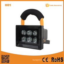 H01 10W 6LED LED Flood Light Outdoor Rechargeable Searchlight Caving LED Camping Lighting
