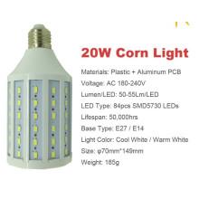 20w 5730 lumière moutarde SMD led E27 AC180-240V lampe LED chaude et chaude