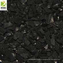 Активированный уголь для продажи в золотодобывающей отрасли скорлупы кокосового ореха на основе 8х16, 6х12 сетки активный углерод