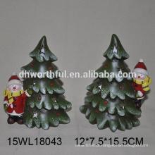 Boneco de neve e árvore cerâmicos para 2016 enfeites