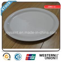 Простая белая керамика 13 '' Рыбный столик