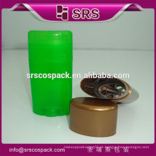 SRS plástico cosmético de alta qualidade 15g 50g 75g garrafa de vara desodorante