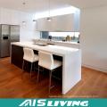 Armarios de cocina UV de alto brillo con soporte de diseño personalizado (AIS-K978)