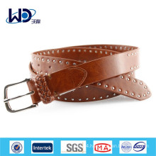 Silver Rivet Genuine Leather Belts For Jeans