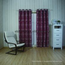 Nouveau tissu de rideau de fenêtre à broder en polyester à 100%