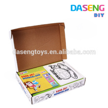 Supply high quality sand art cards box packaging for kids