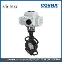 4 inch wafer type motorized butterfly valve dn100 cast iron valve