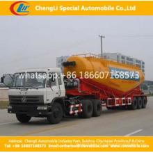 Caminhão de tanque do pó do cimento do volume do eixo 50ton 50ton