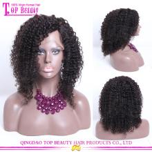 Fabricante de cabelo Qingdao garantido qualidade perucas cabelo humano real