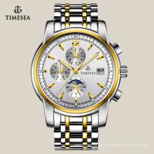 Homens lazer relógio automático relógio de pulso multifuncional 72106
