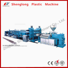 PVC Conical Twin-Screw Corrugated Sheet Extrusion Machine