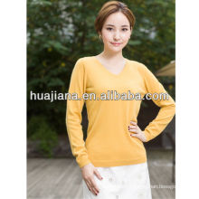 basic V neck woman's cashmere sweater