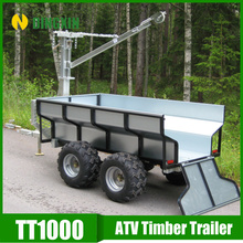farm wagon trailers galvanized 4wheel ATV Trailer with CE