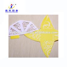 Boîte-cadeau faite sur commande de bonbons de mariage de papier de triangle fait sur commande de fantaisie