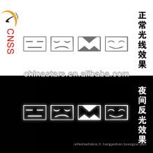 Logo réfléchissant sur le visage personnalisé à haute visibilité