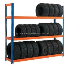 Prateleira de pneus Racking Warehouse Rack de armazenamento vertical para pneus
