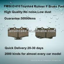 Toyota 4-Runner disco de freno pad D410