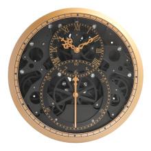 Relógio exclusivo com equipamento irregular para decoração de parede