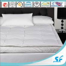 Luxo camas Twin Goose Down Colchão Topper para Hotel Cinco Estrelas