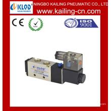 Pneumática Válvula solenóide / Duas posições Válvula de ar pneumático de cinco vias / Liga de alumínio Válvula solenóide pneumática
