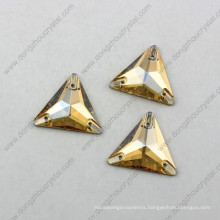 Multi-Size Triangle Sew on Stone Crystal Accessories for Garment