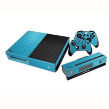 Couverture protectrice d'autocollant de fibre de carbone avec 2 autocollants de peaux de contrôleur pour la console de Xbox One