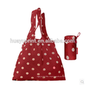 Bulk supermarket bag folding portable nylon bag shopping bag waterproof polyester bag large