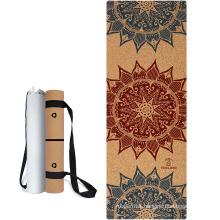 Yugland OEM Service Natural Rubber Back Eco Cork Yoga Mat For Exerciser Non-slip Yoga Mat Eco Friendly