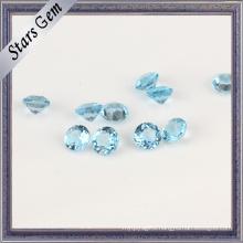 Top-Grade 95% Clear Swiss Blue Natural Topaz