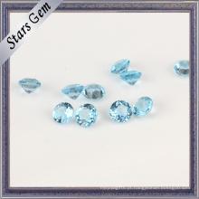 Topázio natural de top-grade 95% azul claro suíço