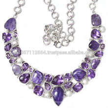 Buy Best Charoite Purple Amethyst & Pearl Gemstone with 925 Sterling Silver Handmade Jewelry Beautiful Gift for Her