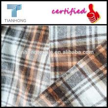 tissés teinté de tissu de flanelle avec construction/jaune flanelle carreaux tissu/Warm laine carreaux teints