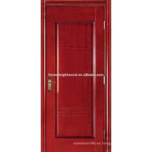 Cereza chapeada pintada puertas Hotel talladas puertas interiores MDF