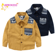 flannel children's long-sleeved blouse boy long-sleeved shirt for kids