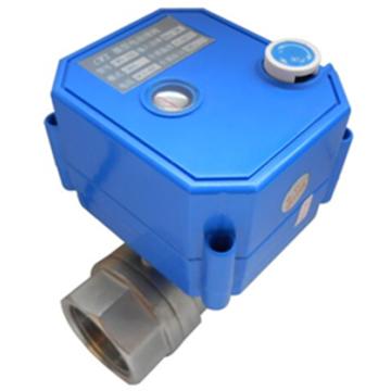 mini válvula de esfera elétrica inoxidável