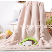 Manta de bebé de lana de coral Mantas de bebé de manta de Sherpa doble
