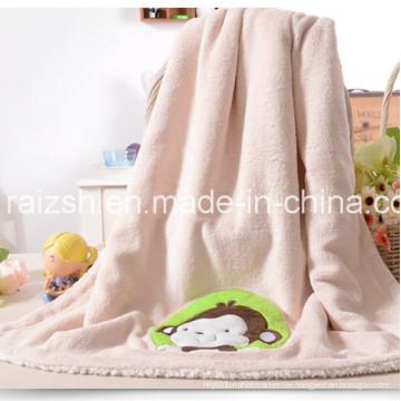Coral Fleece Baby Blanket Double Sherpa Blanket Baby Blankets