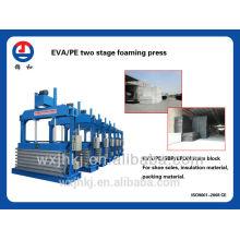 EVA/PE 2ème moussant hydraulique presse