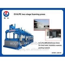 EVA/PE two stage foaming vulcanizing press