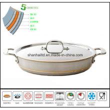 5ply Copper Core Body Fry Pan