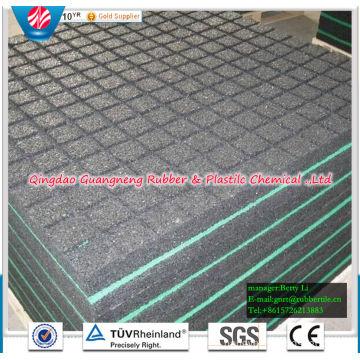 Waterproof Indoor Rubber Flooring Tiles Square Rubber Floor Tile Playground Rubber Flooring