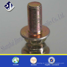 Tornillo de brida hexagonal con zinc