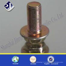 Boulon à bride hexagonale avec du zinc