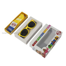 Custom New Design Printing Fashionable Optical Glasses Cases Black Paper Packaging Box Paper Glasses Box