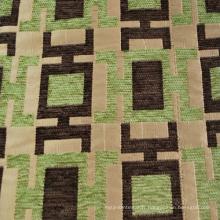 Tissu Jacquard Chenille Moderne 100% Polyester de Qualité Lourde