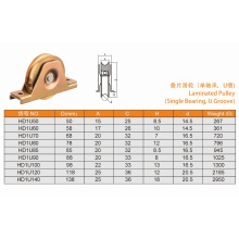 Hot Laminated Pulley Single Bearing with U Groove