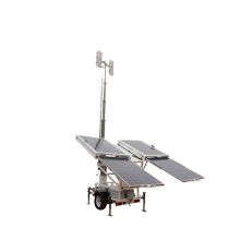 Worksite LED flood lights mobile solar light tower
